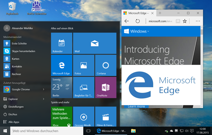 Windows 10 und Edge